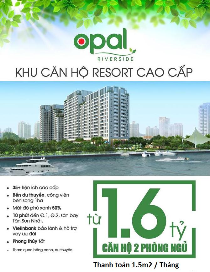 Giá bán căn hộ Opal Riverside
