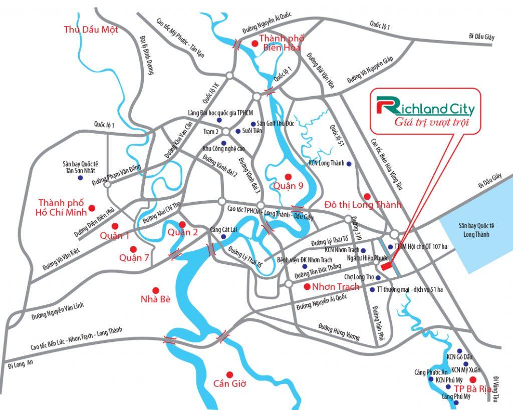 Đón đầu hạ tầng Nhơn Trạch với dự án RichLand City