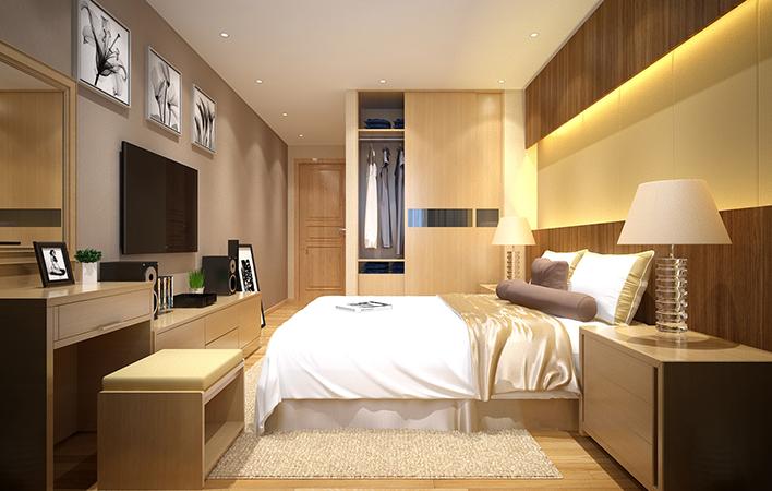 Phòng ngủ căn hộ Wilton Tower