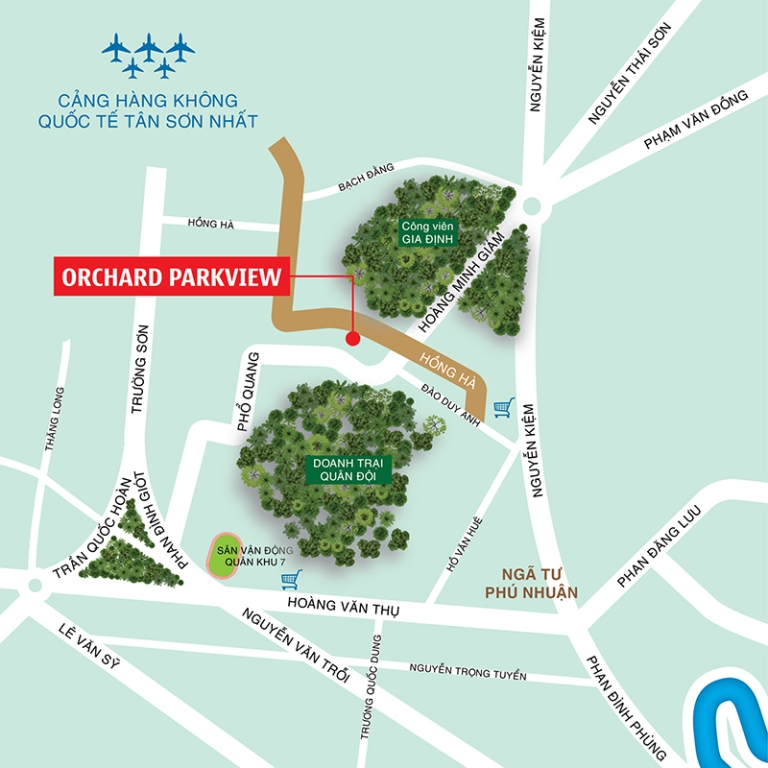 Vị trí căn hộ Orchard Parkview