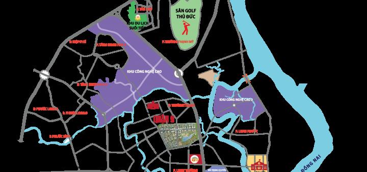 Bản đồ vị trí quy hoạch Đông Tăng Long