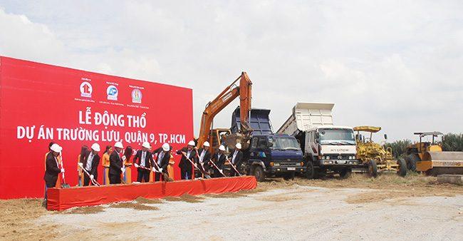 Hình ảnh động thổ dự án Trường Lưu