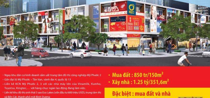 Nhà phố thương mại H2 Mỹ Phước 3