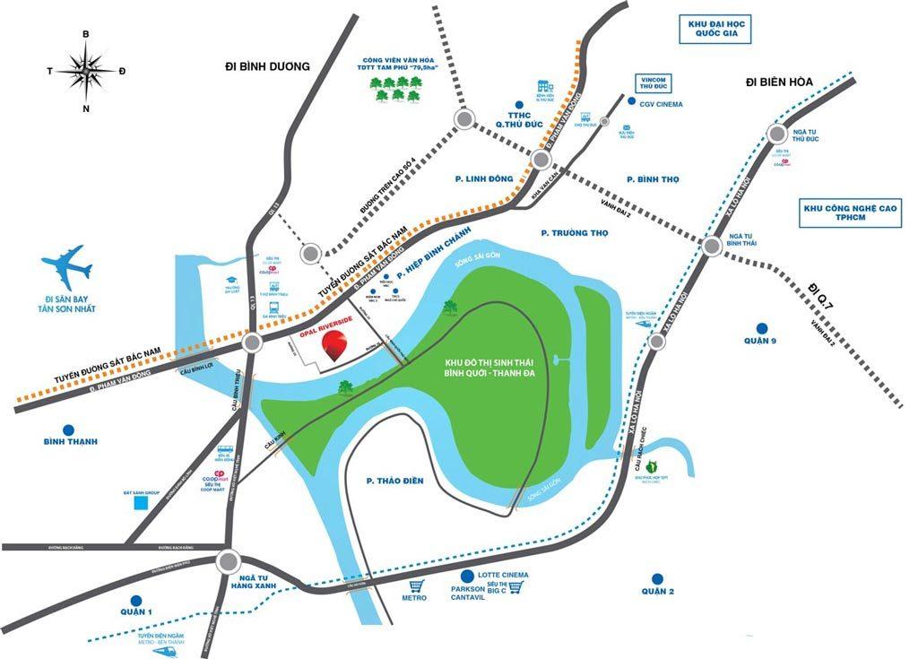 Vị trí căn hộ Opal Riverside
