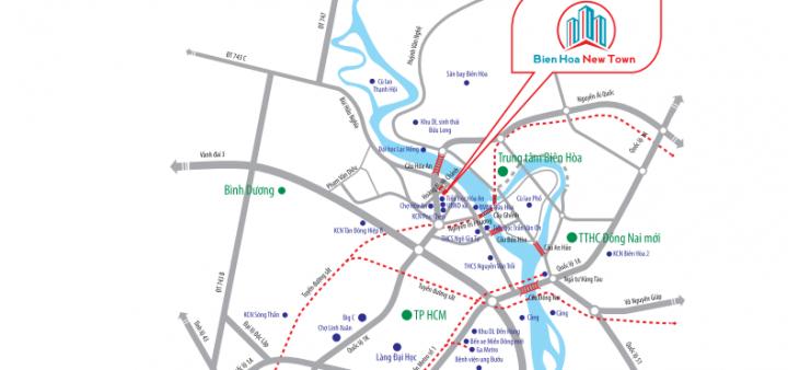 Vị trí đắc địa Biên Hòa New Town