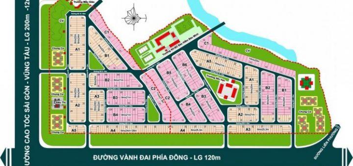Sơ đồ phân lô - Mặt bằng KDC Khang An Quận 9