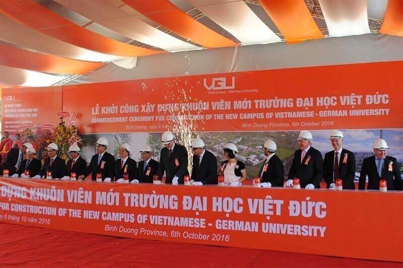 Lễ khởi công địa học Việt Đức vào cuối năm 10/2016
