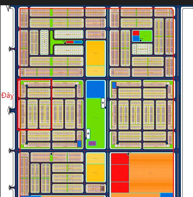 Tổng thể phân lô dự án khu đô thị Phú Hội