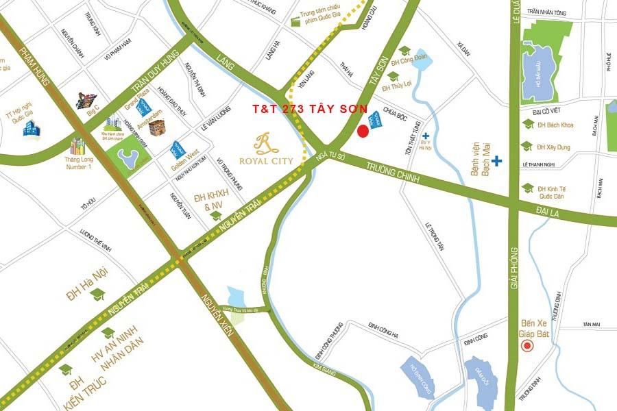 Vị trí đắc địa của chung cư 273 Tây Sơn