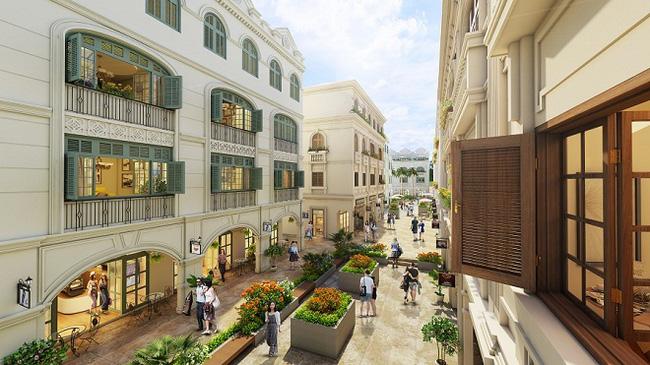 đường nét thiết kế tinh tế shophuse waterfront