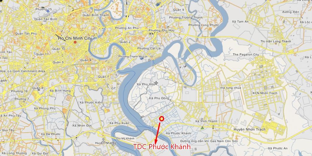 Vị trí tái định cư Phước Khánh Nhơn Trạch
