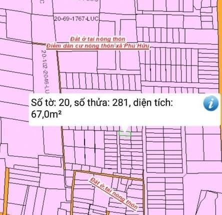 Bán đất xã Phú Hữu thổ cư hết đất giá 890 triệu