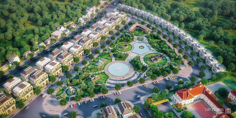 Công viên trung tâm dự án Cát Tường Phú Hưng