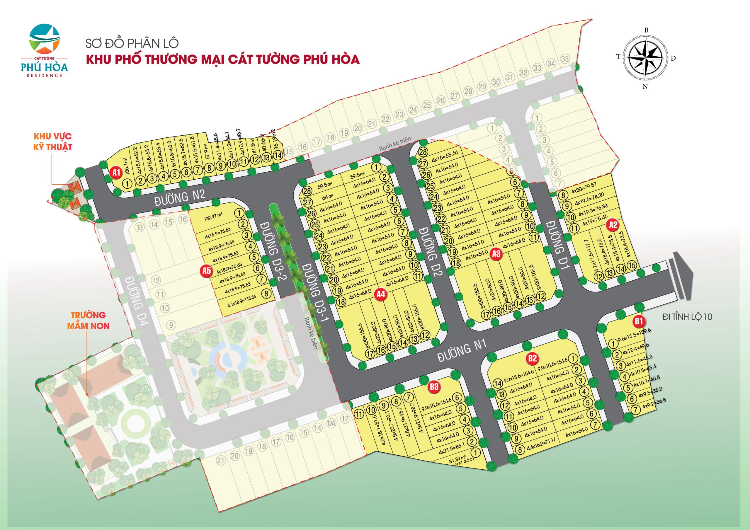 Phân lô dự án Cát Tường Phú Hòa