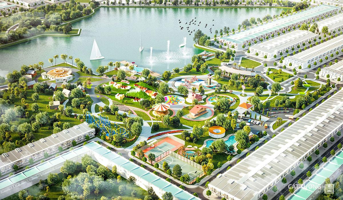 Phối cảnh công viên dự án Phân lô dự án Cát Tường Phú Sinh