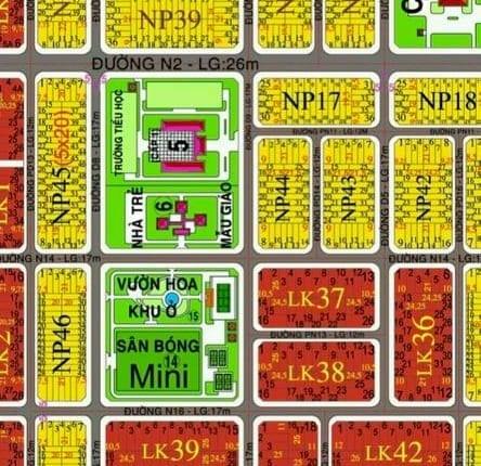 Bán đất liền kề dự án XDHN Nhơn Trạch đường 17m có sổ hồng riêng